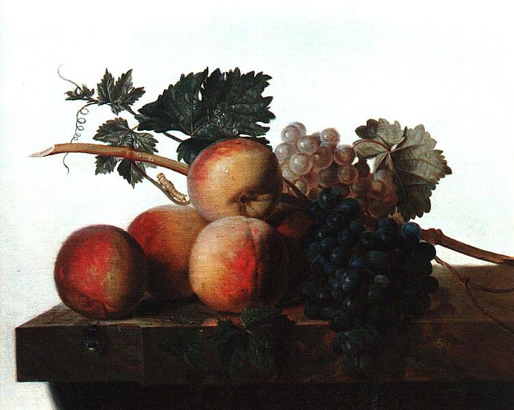 John Johnston Still Life with Fruit fhf France oil painting art