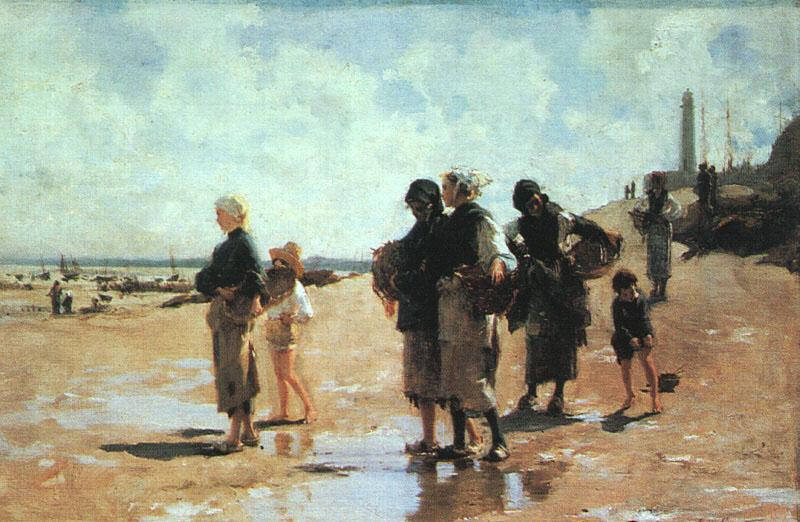 John Singer Sargent Oyster Gatherers of Cancale France oil painting art