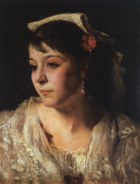 John Singer Sargent Head of an Italian Woman France oil painting art