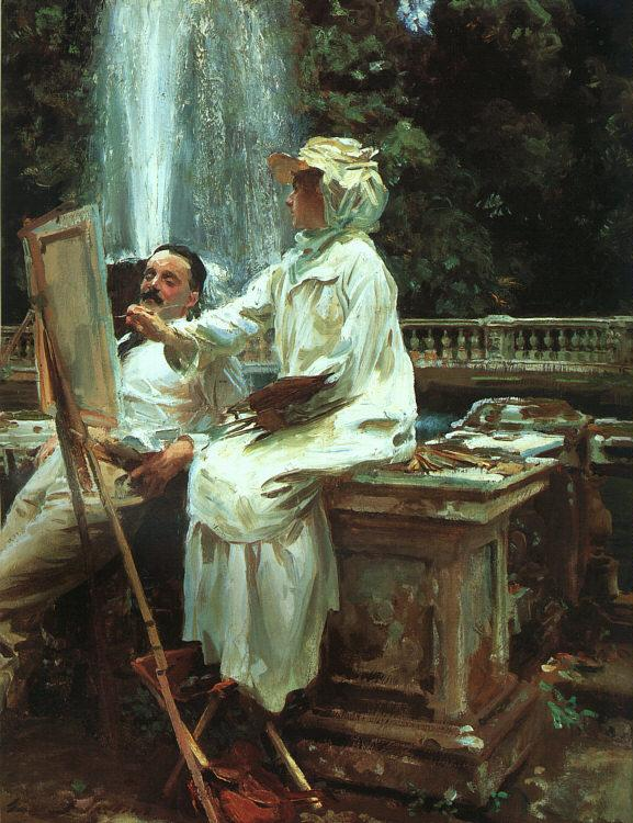 John Singer Sargent The Fountain at Villa Torlonia in Frascati France oil painting art