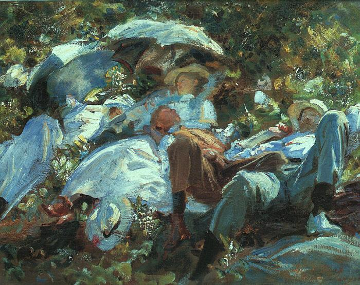 John Singer Sargent Group with Parasols France oil painting art