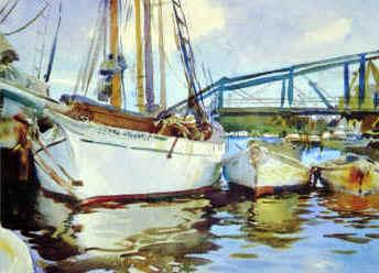 John Singer Sargent Boats at Anchor France oil painting art