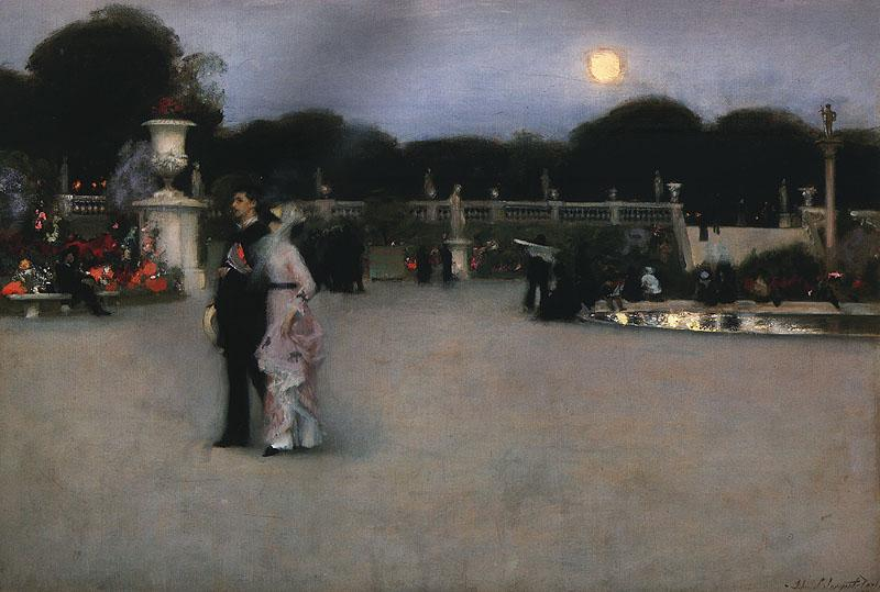 John Singer Sargent In the Luxembourg Gardens France oil painting art