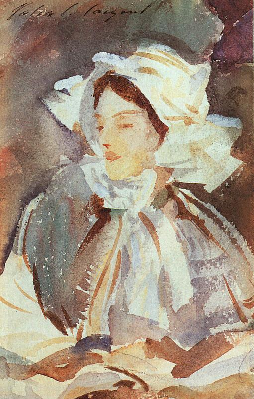 John Singer Sargent Lady in a Bonnet oil painting image