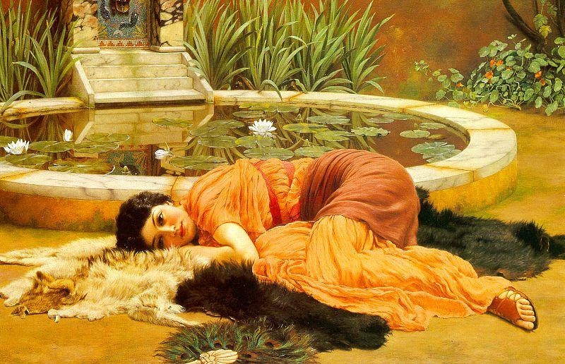 John William Godward Dolce Far Niente oil painting image