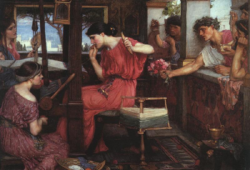 John William Waterhouse Penelope and the Suitors oil painting image