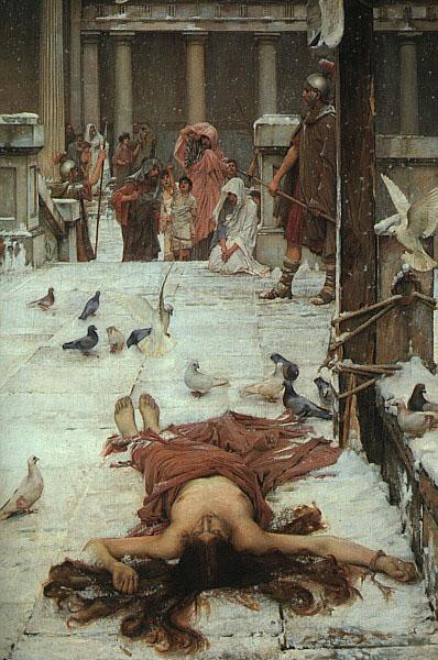 John William Waterhouse St.Eulalia oil painting image