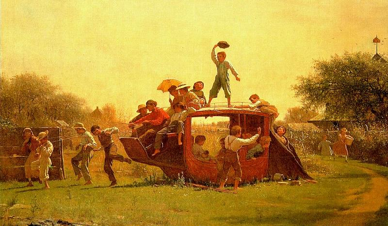 Jonathan Eastman Johnson The Old Stagecoach France oil painting art