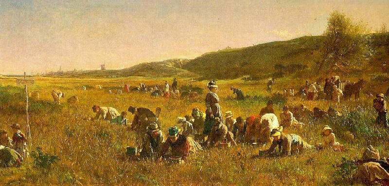 Jonathan Eastman Johnson The Cranberry Harvest on the Island of Nantucket France oil painting art