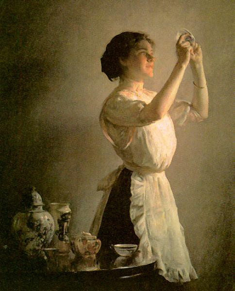 Joseph Decamp The Blue Cup France oil painting art