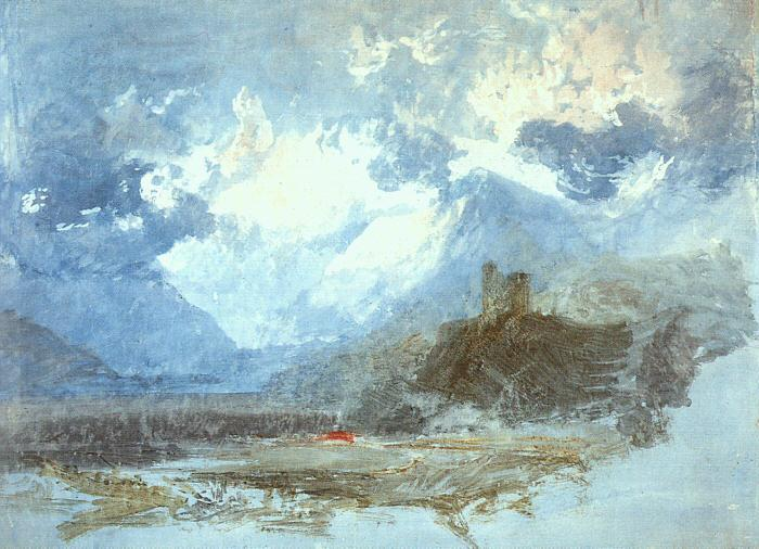 Joseph Mallord William Turner Dolbadern Castle oil painting picture