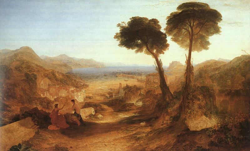 Joseph Mallord William Turner The Bay of Baiaae with Apollo and the Sibyl oil painting picture