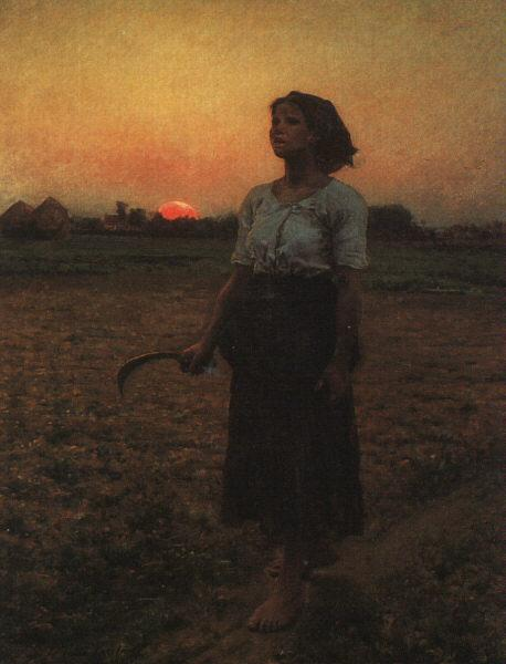 Jules Breton The Song of the Lark oil painting image