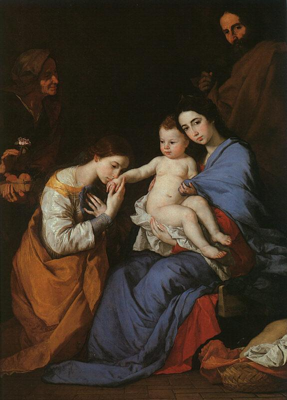 Jusepe de Ribera The Holy Family with Saints Anne Catherine of Alexandria France oil painting art