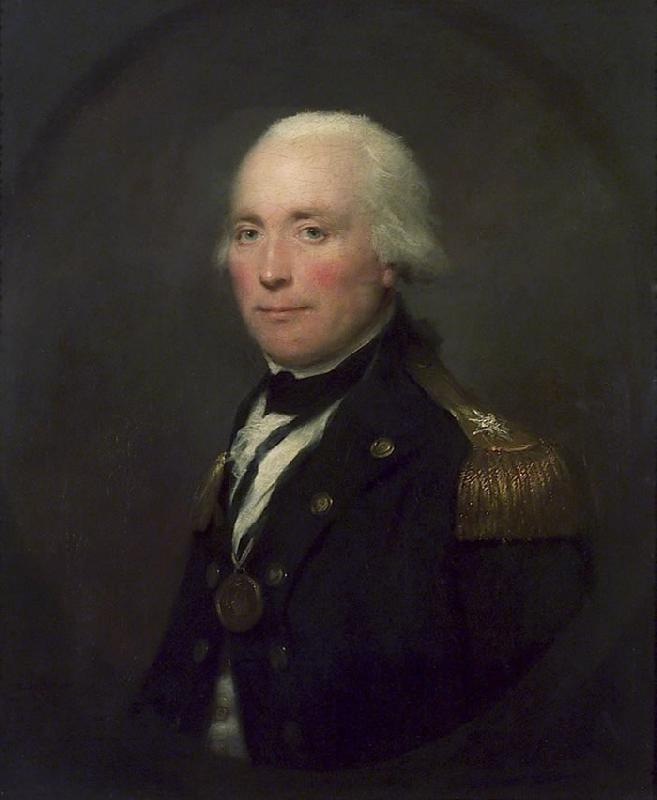 Lemuel Francis Abbott Rear-Admiral Sir Robert Calder oil painting image