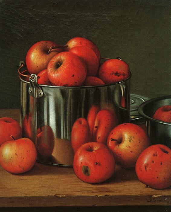 Levi Wells Prentice Apples in a Tin Pail France oil painting art