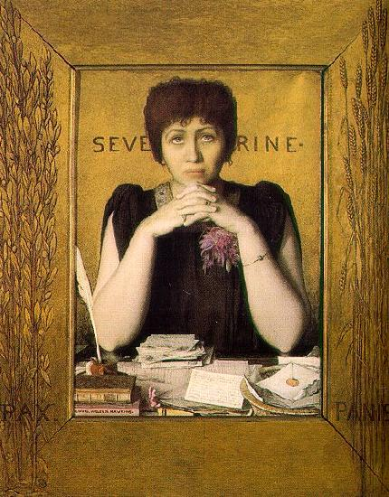 Louis Welden Hawkins Mme Severine oil painting picture