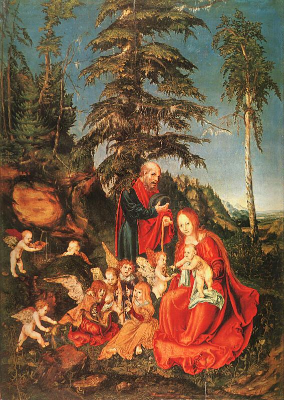 Lucas  Cranach The Rest on the Flight to Egypt oil painting image