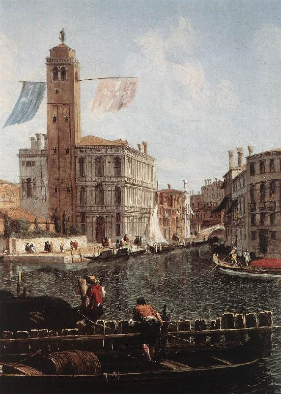 MARIESCHI, Michele The Grand Canal with the Fishmarket (detail) sgh oil painting image