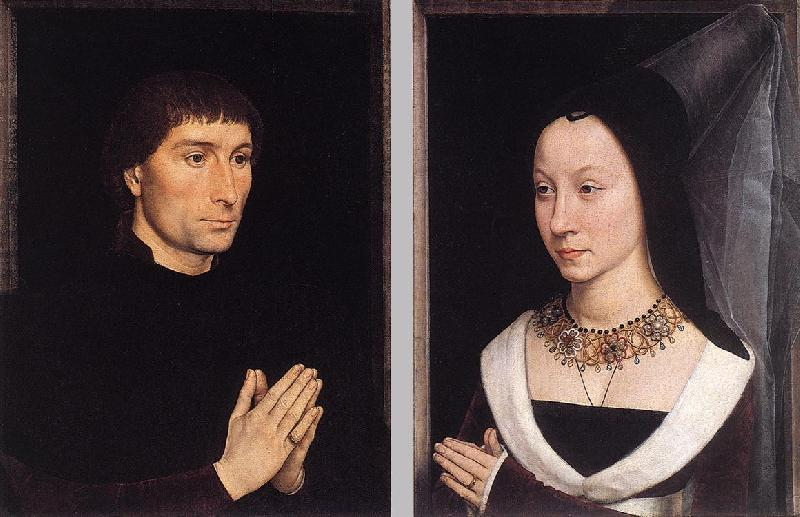 MEMLING, Hans Tommaso Portinari and his Wife wh oil painting image