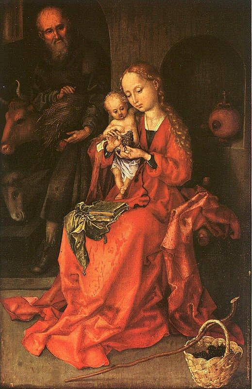 Martin Schongauer Holy Family France oil painting art
