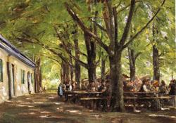 Max Liebermann Country Tavern at Brunnenburg oil painting image