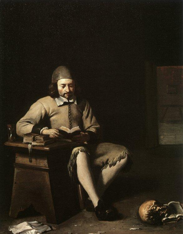 Michael Sweerts Penitent Reading in a Room France oil painting art