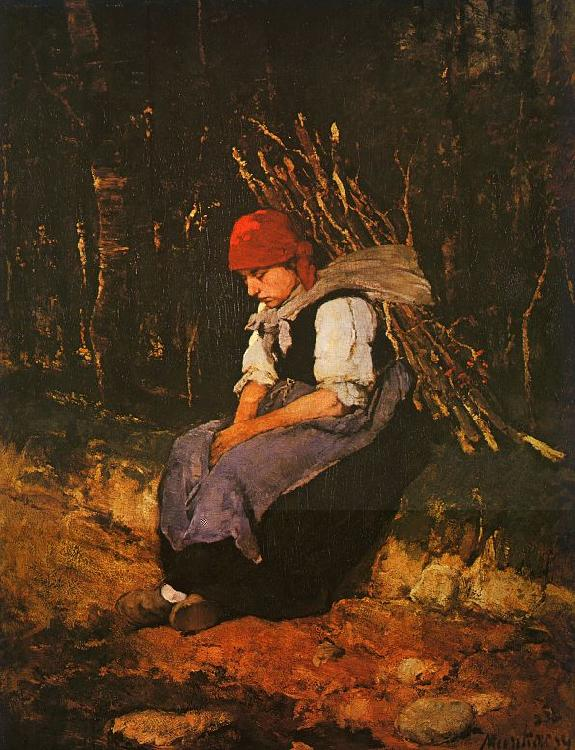 Mihaly Munkacsy Woman Carrying Faggots oil painting image