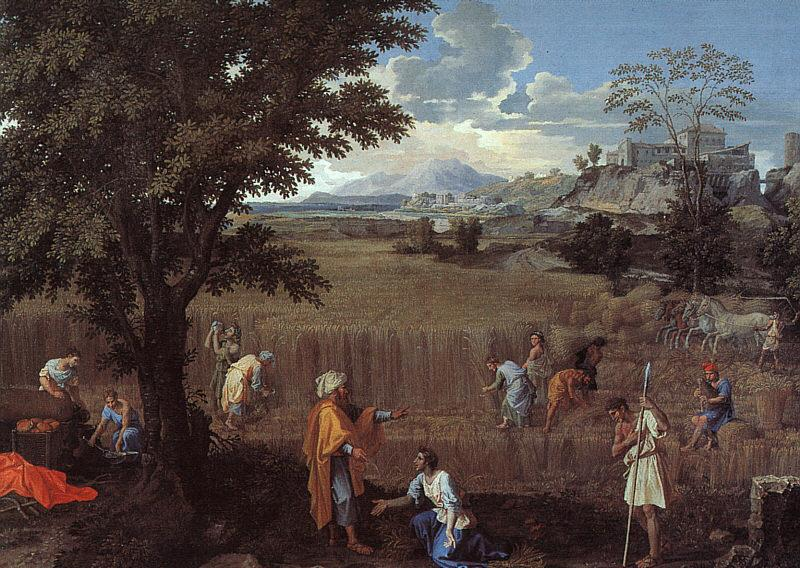 Nicolas Poussin The Summer  Ruth and Boaz oil painting picture