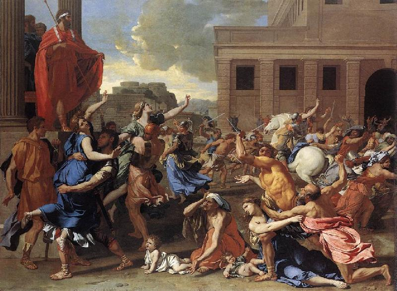 Nicolas Poussin The Rape of the Sabine Women oil painting picture