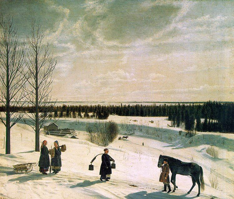 Nikifor Krylov Russian Winter oil painting image