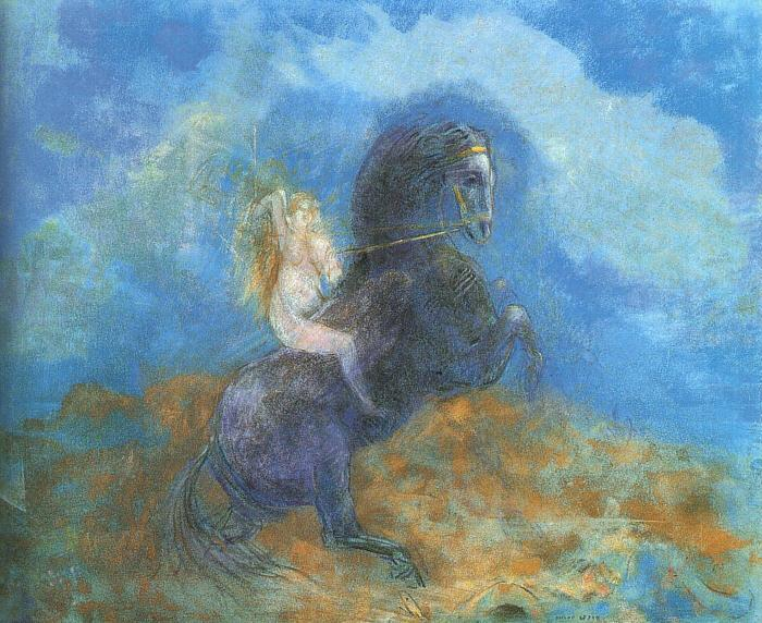 Odilon Redon The Valkyrie France oil painting art