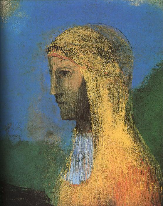 Odilon Redon The Druidess France oil painting art
