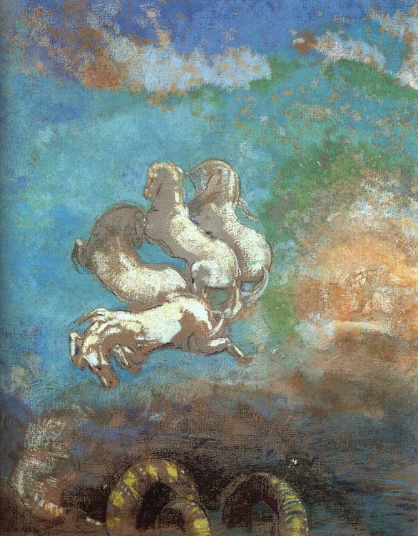 Odilon Redon The Chariot of Apollo France oil painting art