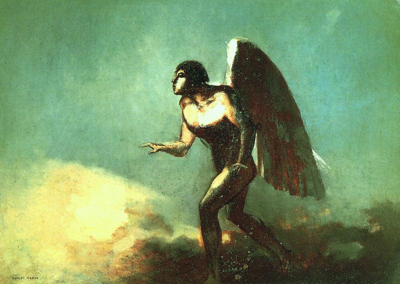 Odilon Redon The Winged Man France oil painting art