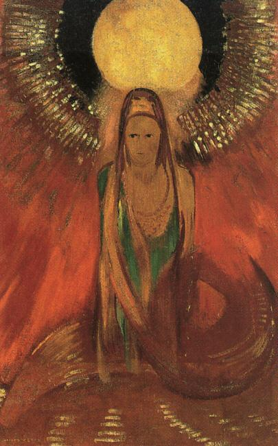 Odilon Redon The Flame France oil painting art