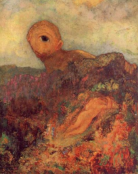 Odilon Redon The Cyclops France oil painting art