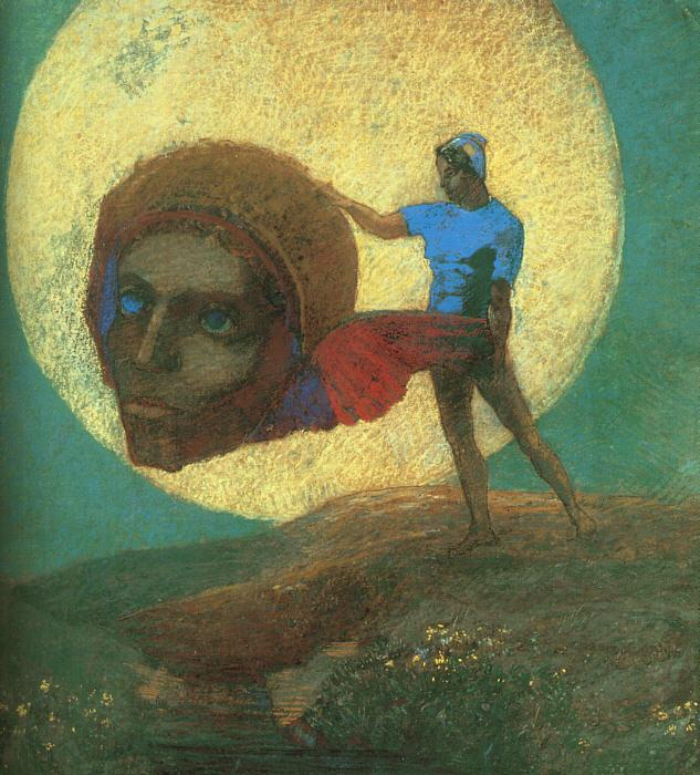 Odilon Redon The Fall of Icarus France oil painting art