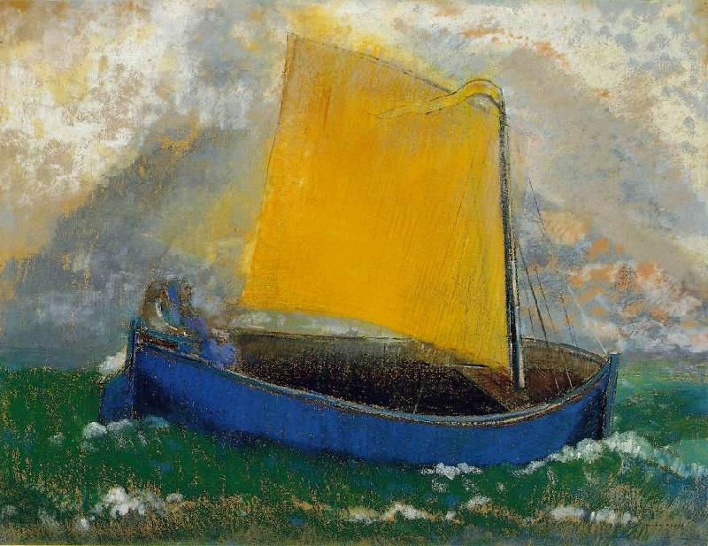Odilon Redon The Mystical Boat France oil painting art