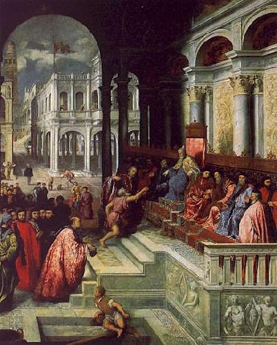 Paris Bordone Presentation of the Ring to the Doges of Venice oil painting image