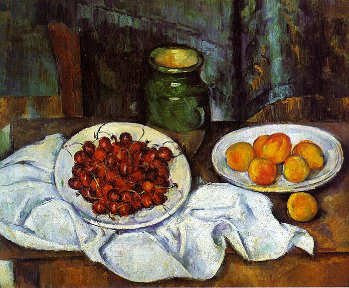 Paul Cezanne Cherries and Peaches oil painting image