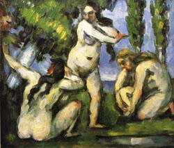 Paul Cezanne Three Bathers oil painting image