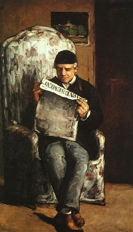 Paul Cezanne The Artist's Father oil painting image