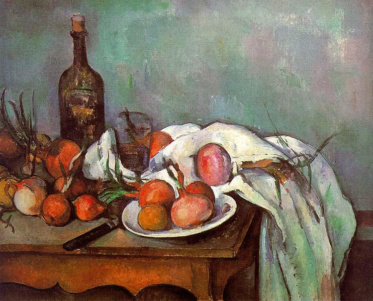 Paul Cezanne Onions and Bottles oil painting image
