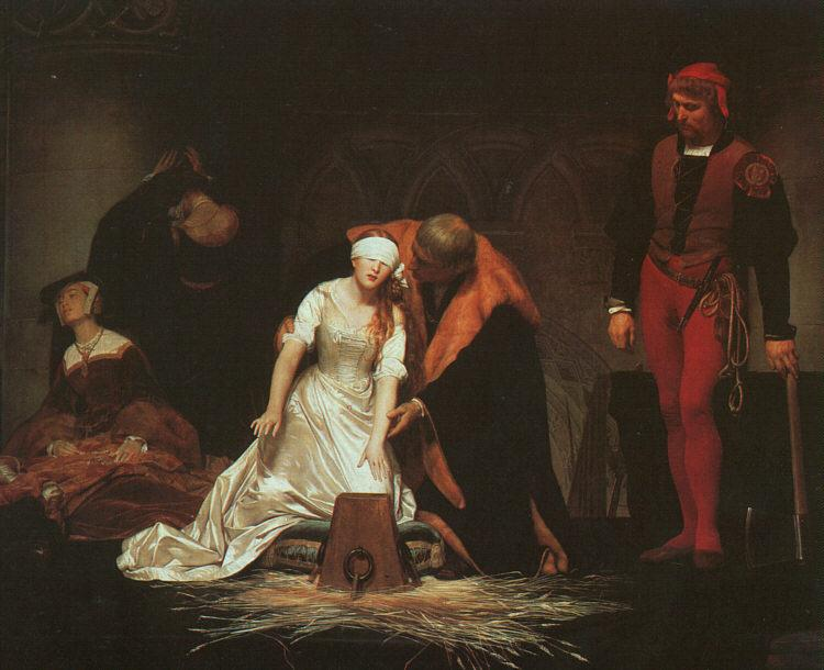 Paul Delaroche The Execution of Lady Jane Grey oil painting image