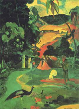 Paul Gauguin Landscape with Peacocks oil painting image