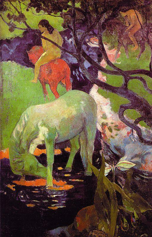 Paul Gauguin The White Horse r oil painting image