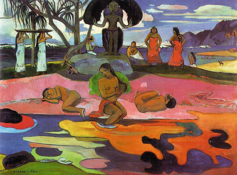 Paul Gauguin Mahana No Atua oil painting image