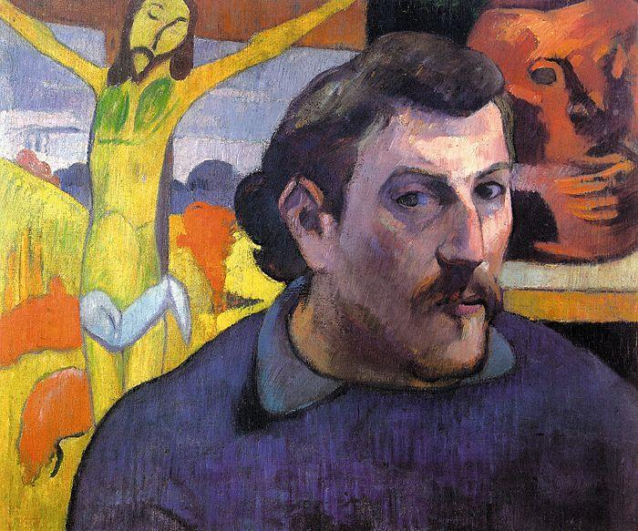 Paul Gauguin Self Portrait with Yellow Christ oil painting image