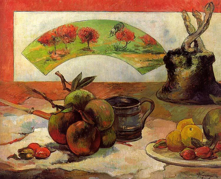 Paul Gauguin Still Life with Fan oil painting image
